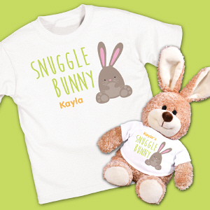 Personalized Kids Easter Bunny And Shirt Set | Easter Gifts For Kids
