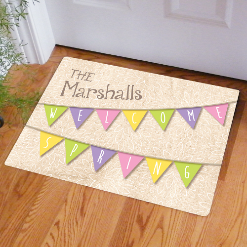 Spring Welcome Doormat | Personalized Doormats