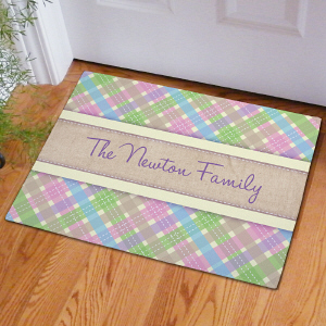 Personalized Easter Family Doormat