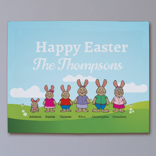 Bunny Family Personalized Canvas | Personalized Easter D�cor