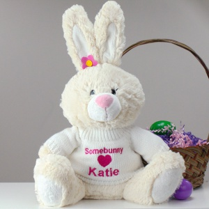 Personalized Plush Easter Bunny for girl