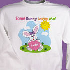 Some Bunny Loves Her Personalzied Easter Youth Sweatshirt