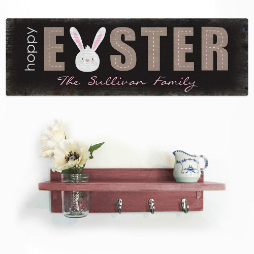 Personalized Easter Wall Sign | Personalized Easter Decor
