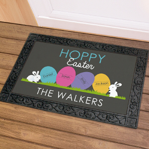 Easter Welcome Personalized Doormat