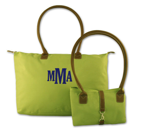 Embroidered Nylon Travel Tote Bag | Personalized Tote Bags