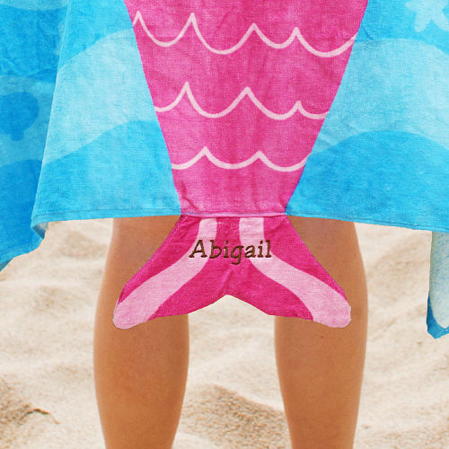 Embroidered Mermaid Hooded Beach Towel E751897