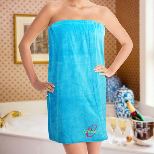 Embroidered Ladies Spa Wrap | Monogrammed Towel Wrap