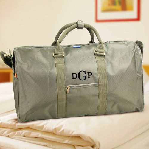 Monogram Chuck Duffel Bag - Olive | Unique Groomsmen Gifts