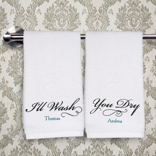 Embroidered Couples Hand Towel Set E7786148S