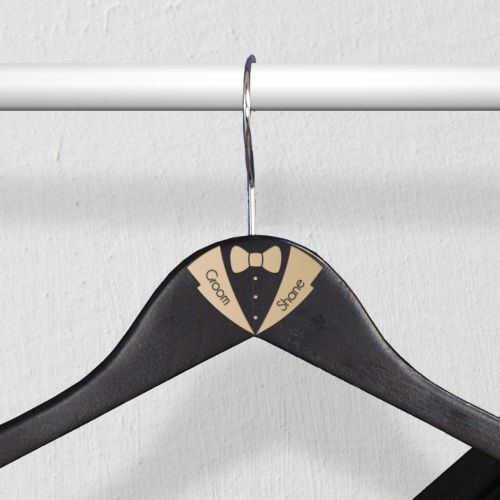 Engraved Tuxedo Hangers | Personalized Groomsmen Gifts
