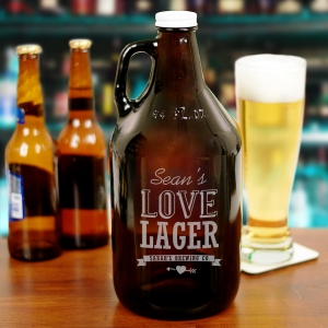 Engraved Couples Beer Growler L820979