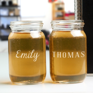 Any Name Engraved Mason Jar Shot Glass | Personalized Bar Gifts