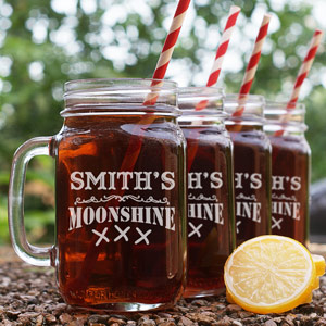 Moonshine Engraved Mason Jar | Personalized Father's Day Gifts
