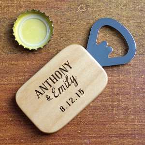 Engraved Couples Names Bottle Opener L9511126