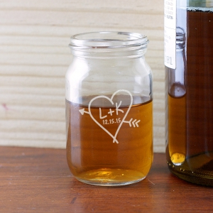 Engraved Couples Mason Jar Shot Glass