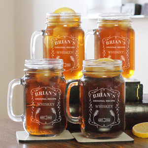 Engraved Whiskey Mason Jar L954171