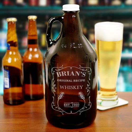 Engraved Whiskey Growler | Personalized Barware