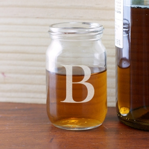 Monogram Mason Jar Shot Glass | Custom Groomsmen Shot Glasses