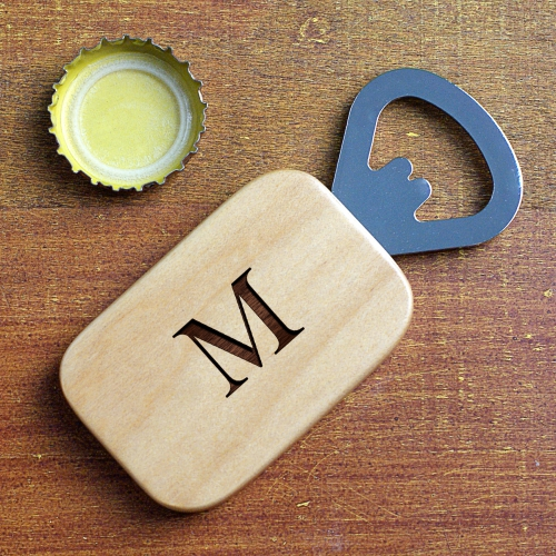 Engraved Initial Bottle Opener | Personalized Father's Day Gifts