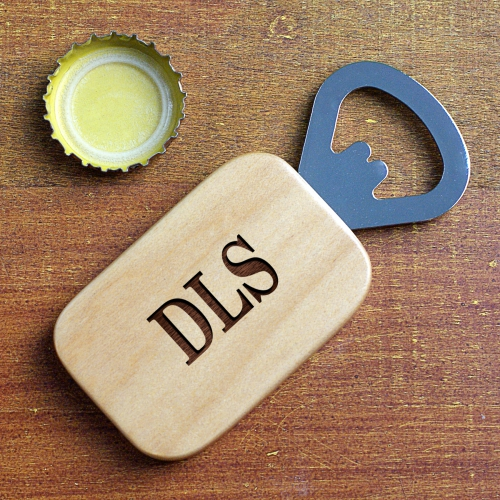 Engraved Wood Bottle Opener | Personalized Bar Gifts