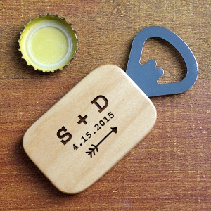 Couples Engraved Bottle Opener | Personalized Couple Gifts