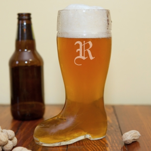 Engraved Glass Boot