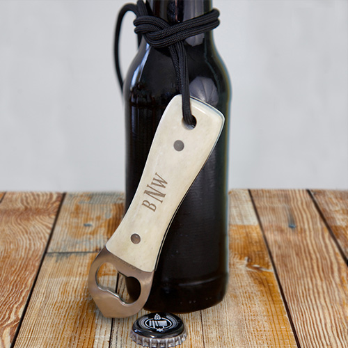 Engraved Bone Bottle Opener | Personalized Groomsmen Gifts