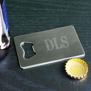 Engraved Credit Card Bottle Opener | Bar Gifts for Dad