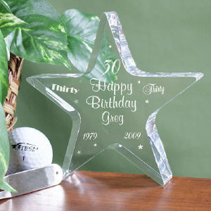 Personalized 30th Birthday Star Keepsake