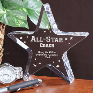 Engraved All-Star Coach Keepsake