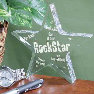 Personalized Rock Star Keepsake