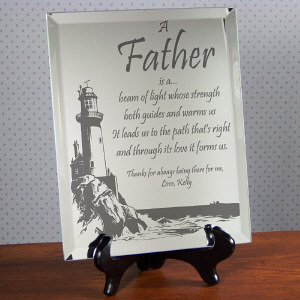 Personalized Father Plaque