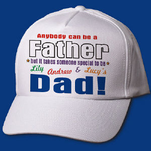 Anybody Can Be...Dad Personalized Hat