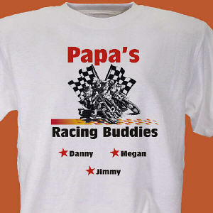 Dirt Bike Racing Buddies Personalized T-Shirt
