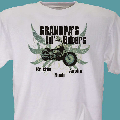 Lil Bikers Personalized T-Shirt | Personalized Grandpa Gifts