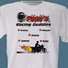 Motorcycle Racing Buddies Personalized T-Shirt