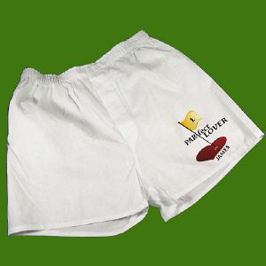 Par-Fect Lover Men's White Personalized Boxer Shorts