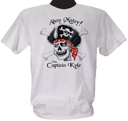 Pirate Captain Personalized T-Shirt