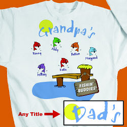 Fishing Buddies Personalized Sweatshirt