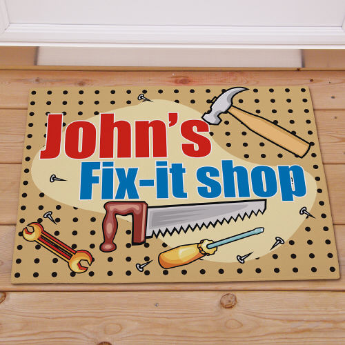 My Fix-It Shop Personalized Doormat | Personalized Doormats