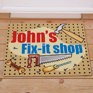 My Fix-It Shop Personalized Doormat