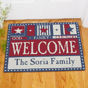 God Family Country Welcome Doormat | Personalized Doormats