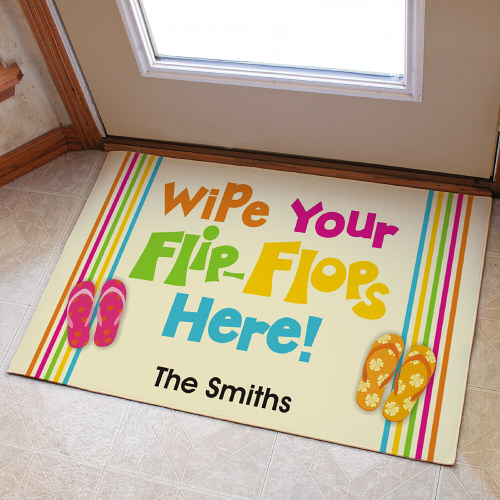 Personalized  Doormat - Flip Flops Beach House