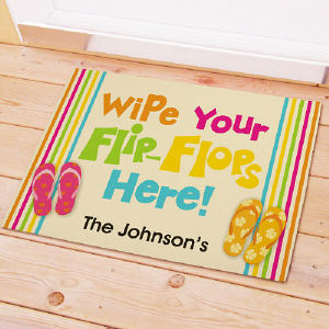 Personalized  Doormat - Flip Flops Beach House | Personalized Doormats