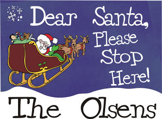 Santa's Sleigh... Please Stop Here Doormat