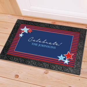 Personalized Fourth of July Doormat