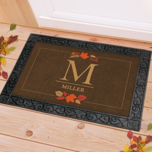 Fall Personalized Doormat | Monogram Doormat