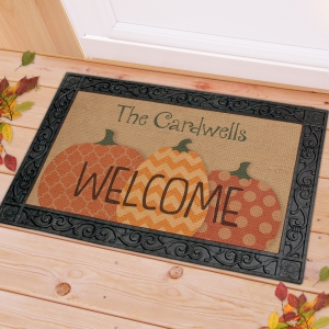 Fall Harvest Personalized Doormat U969083