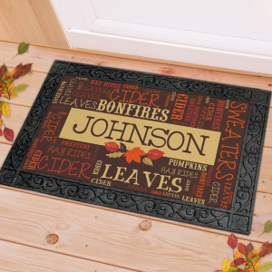 Fall Word-Art Welcome Doormat