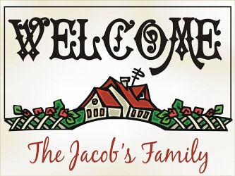 Welcome House Doormat | Personalized Doormats